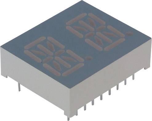 Alfanumerický displej Lite-On, oranžovo-červená, 13.8 mm, 2 V, počet číslic: 2