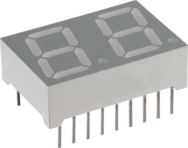 7segmentový displej Lite-On, modrá, 14.22 mm, 3.8 V, počet číslic: 2
