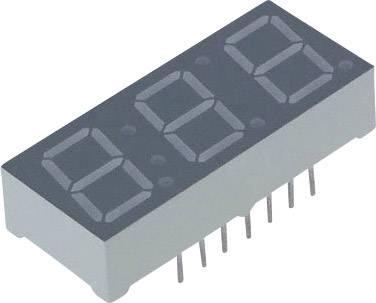 7segmentový displej Lite-On, červená, 10 mm, 2 V, počet číslic: 3