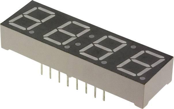 7segmentový displej Lite-On, červená, 10 mm, 2 V, počet číslic: 4
