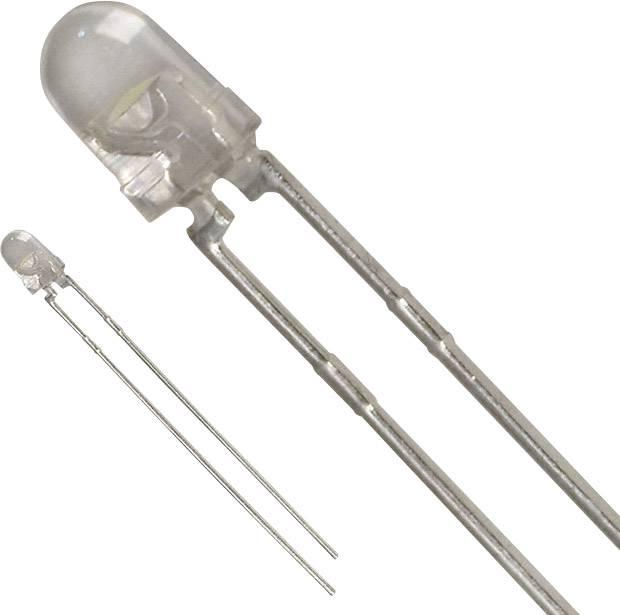 LED s vývody Lite-On LTW-42NC5, typ čočky kulatý, 3 mm, 45 °, 30 mA, 1.1 cd, 3.5 V, bílá