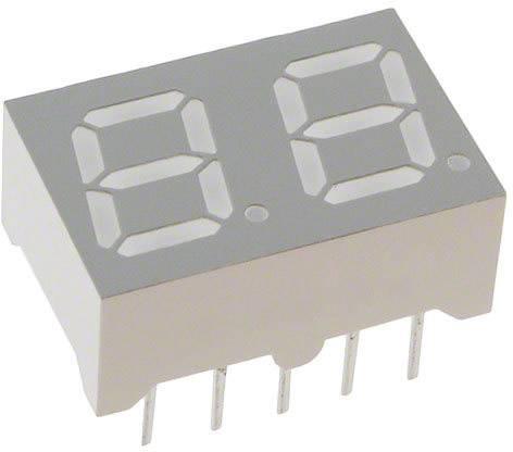 7segmentový displej Lite-On, zelená, 7 mm, 2.1 V, počet číslic: 2