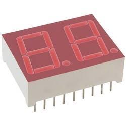 7segmentový displej Lite-On, červená, 14.22 mm, 2 V, počet číslic: 2