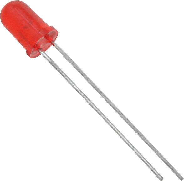 LEDsvývodmi Lite-On LTL-4263, typ šošovky guľatý, 5 mm, červená