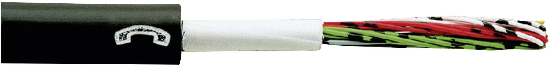 Telefónny kábel A-2Y(L)2Y Faber Kabel 110076, 2 x 2 x 0.8 mm, čierna, metrový tovar