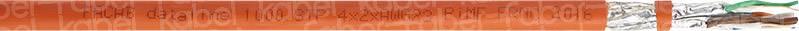 Síťový kabel Faber Kabel DATALINE 1000 STP PIMF FRNC (100952), stíněný, 1 m, oranžová