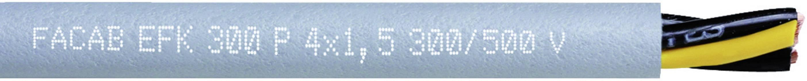 Tažný kabel Faber Kabel EFK 300 P AD300 - SCHLEPPLTG. TPE/PUR (031067), 4x 1,5 mm², polyurethan, Ø 8 mm, nestí
