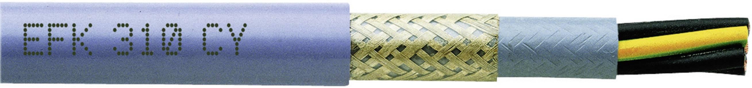 Tažný kabel Faber Kabel EFK 310 CY 310 CUL EFK PVC/PVC/C/PVC (035473), 4x 0,5 mm², PVC, Ø 9 mm, stíněný, 1 m,