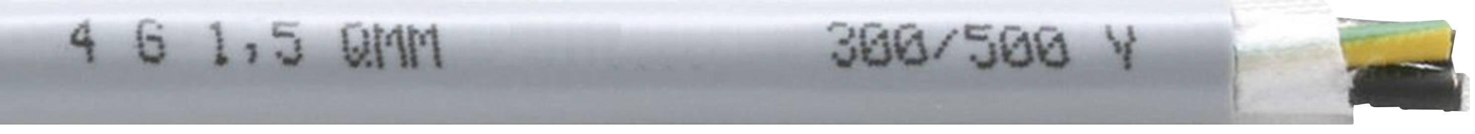 Tažný kabel Faber Kabel EFK 310 Y 310 UL/CSA-SCHLEPPLTG.PVC/PVC (035452), 4x 1,5 mm², PVC, Ø 8,9 mm, nestíněný