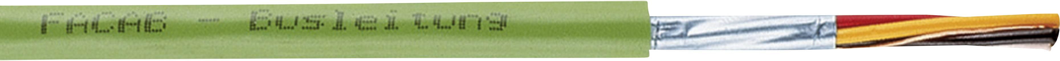 Sběrnicový kabel Faber Kabel 101049, vnější Ø 6.30 mm, zelená, metrové zboží