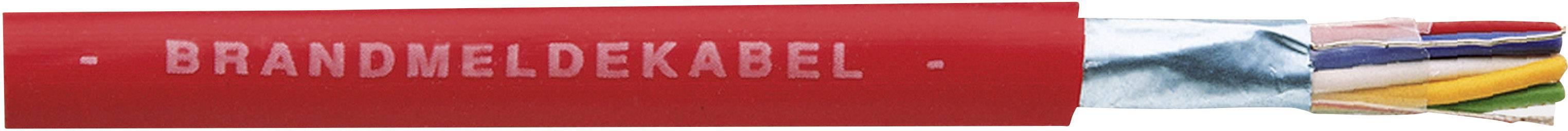Kábel pre požiarne hlásiče J-Y(ST)Y Faber Kabel J-Y(ST)Y 100056, 2 x 2 x 0.8 mm, červená, metrový tovar