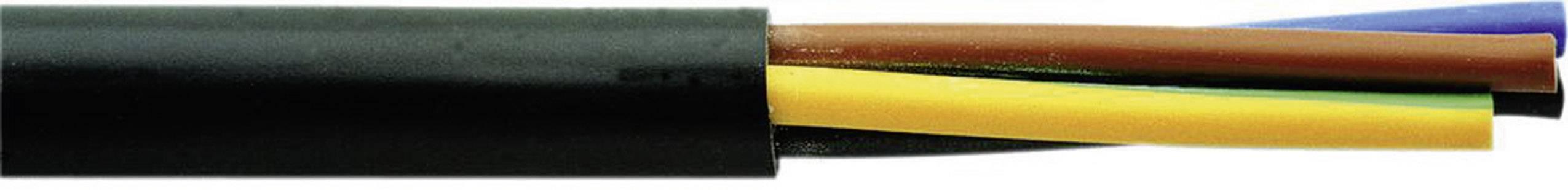 Vícežílový kabel Faber Kabel H05RR-F, 050031, 5 G 2.50 mm², černá, metrové zboží