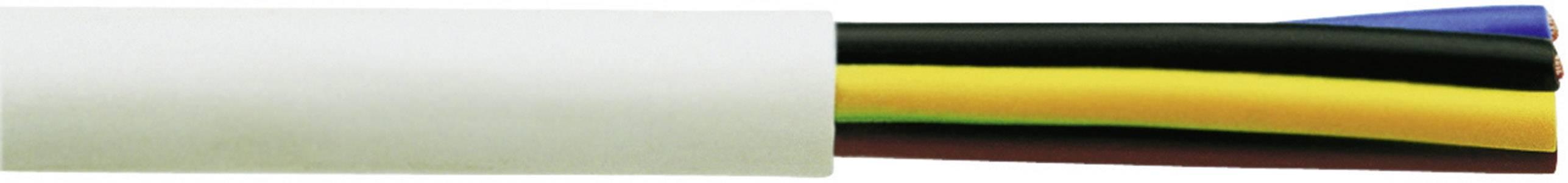 Vícežílový kabel Faber Kabel H05VV-F, 030031, 5 G 2.50 mm², bílá, metrové zboží