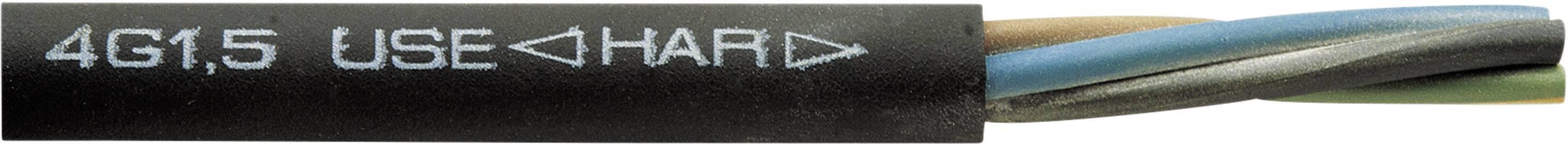 Vícežílový kabel Faber Kabel H07RN-F, 050068, 5 G 6 mm², černá, metrové zboží