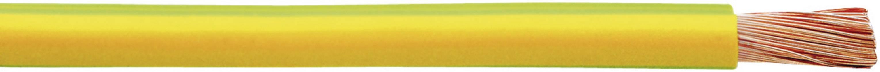 Pletenica H07V-K 1 x 4 mm, zelena-rumena Faber Kabel 040066 100 m