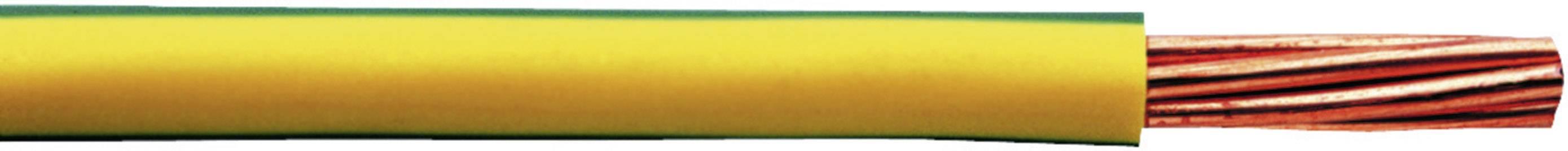Opletenie / lanko Faber Kabel 040084 H07V-R, 1 x 25 mm², vonkajší Ø 8.50 mm, metrový tovar, zelenožltá