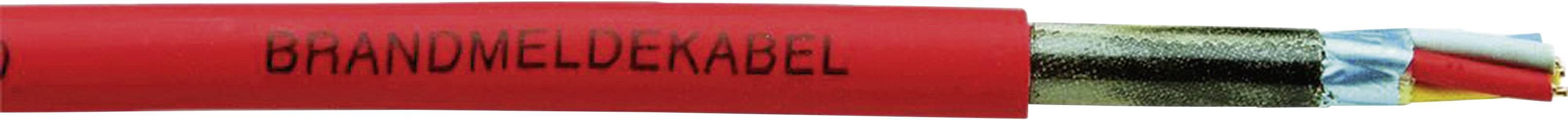 Signalizační kabel Faber Kabel J-H(ST)H (100354), stíněný, červená, 1 m
