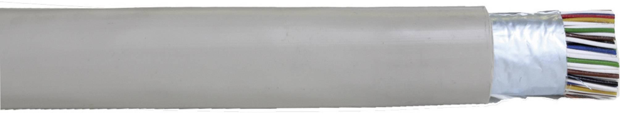Telefónny kábel J-Y(ST)Y Faber Kabel 100007, 4 x 2 x 0.60 mm, sivá, metrový tovar
