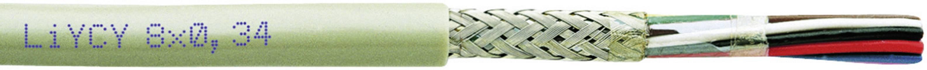 Riadiaci kábel Faber Kabel LiYCY 030393, 8 x 0.50 mm², vonkajší Ø 9.40 mm, 250 V, metrový tovar, sivá