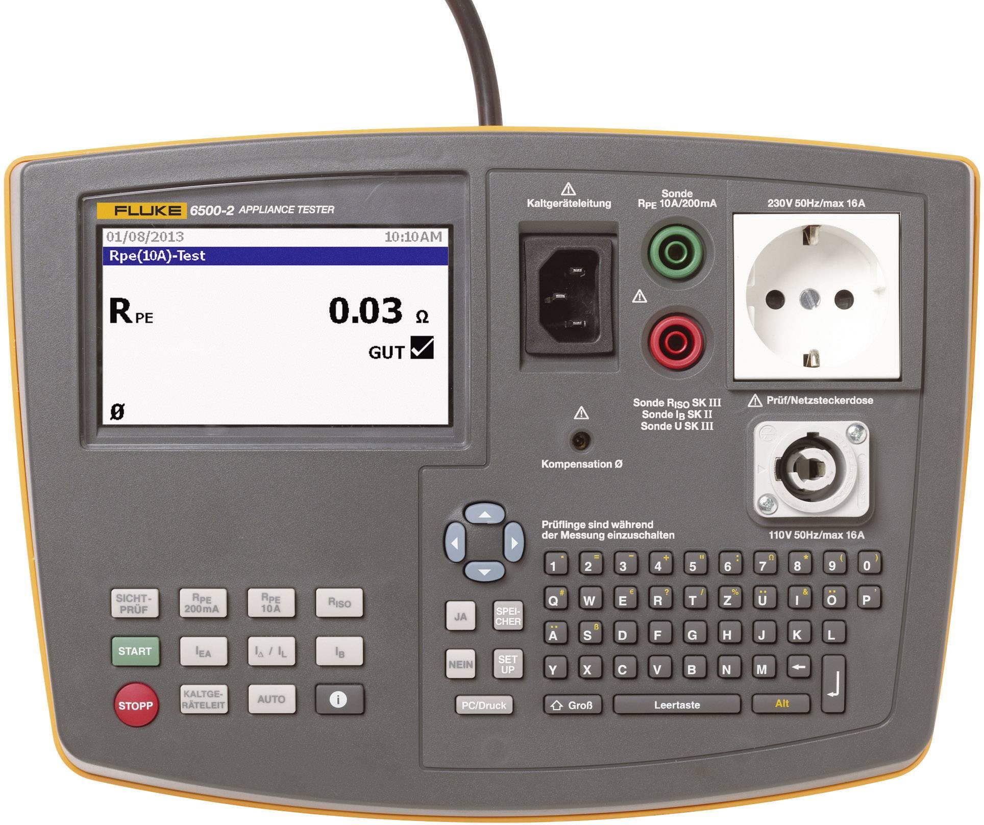 Tester spotřebičů Fluke 6500-2 DE 3HR SEM se softwarem