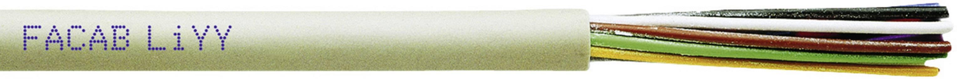 Riadiaci kábel Faber Kabel LiYY 030201, 5 x 0.25 mm², vonkajší Ø 4.50 mm, 250 V, metrový tovar, sivá