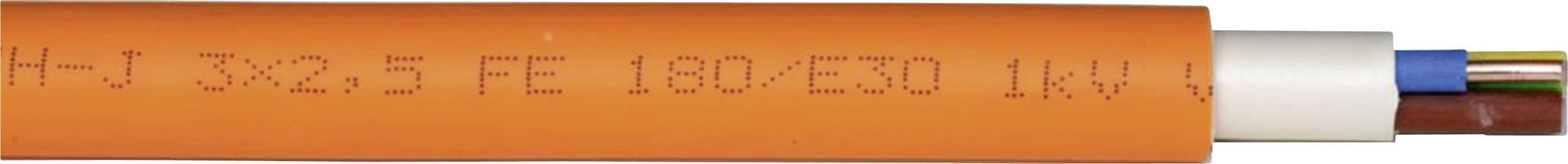 Kabel pro vysoké proudy Faber Kabel NHXHX ..FE180/E90 (010952), 3 x 2,5 mm², oranžová, 1 m
