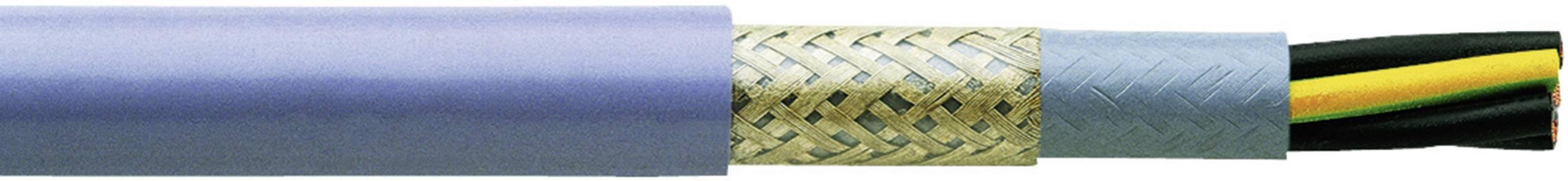 Riadiaci kábel Faber Kabel YSLYCY-JZ 030422, 4 x 0.75 mm², vonkajší Ø 8.80 mm, 500 V, metrový tovar, sivá