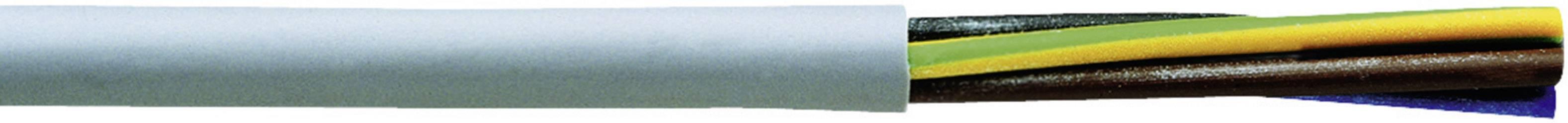 Riadiaci kábel Faber Kabel YSLY-JB 030865, 3 x 0.50 mm², vonkajší Ø 5 mm, 500 V, metrový tovar, sivá