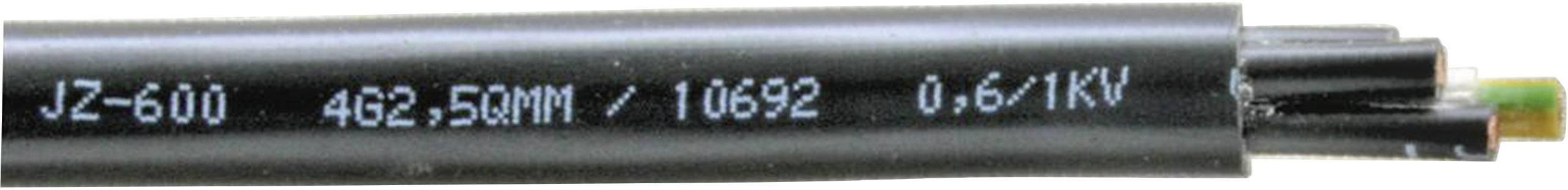 Riadiaci kábel Faber Kabel YSLY-OZ 600 033639, 2 x 1.50 mm², vonkajší Ø 9.60 mm, 1000 V, metrový tovar, čierna