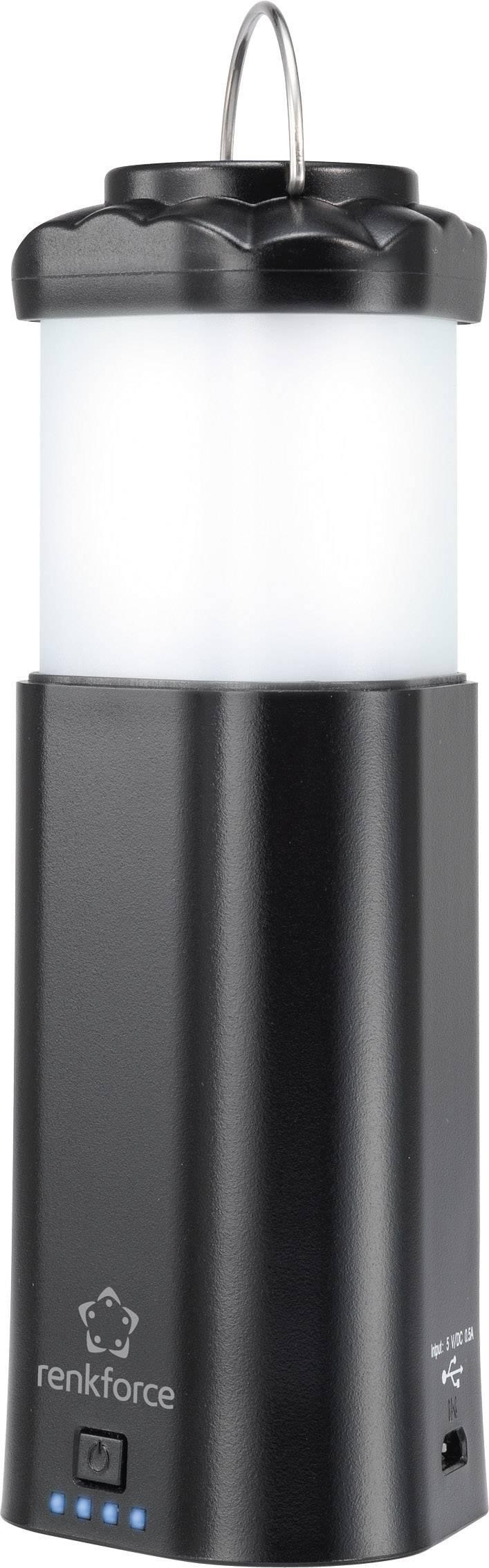 LED campingový lampáš, baterka a Powerbanka - 3 v 1, 4143c2, čierna