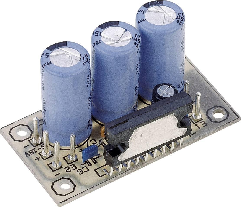 Stereofónny zosilňovač Conrad Components 9 V/DC, 12 V/DC, 18 V/DC, 20 W, 2 Ohm, stavebnica