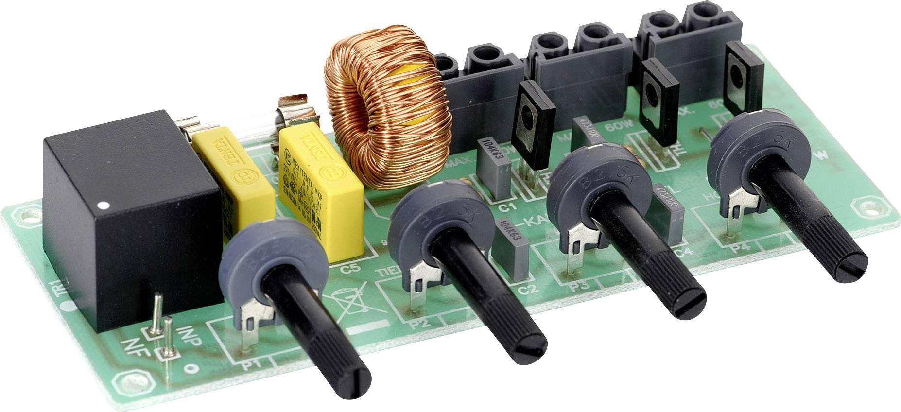 3kanálové světelné varhany, 50 x 122 mm, 230 V/AC, 3 x 60 W