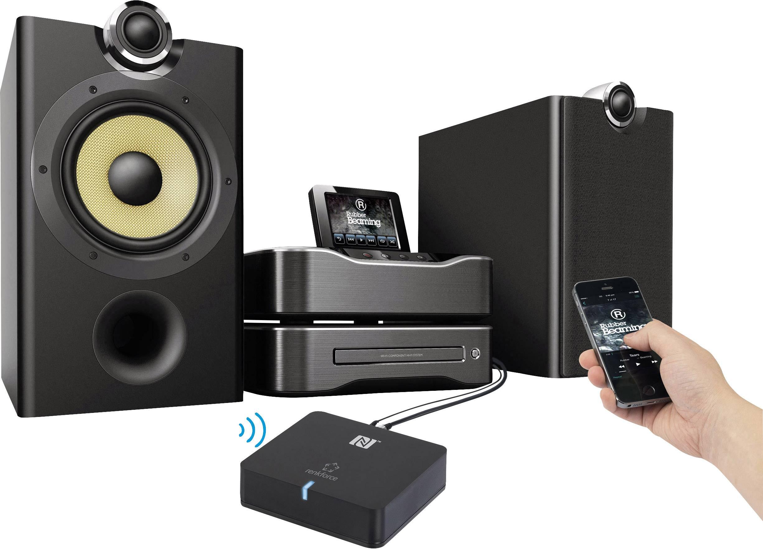 Bluetooth audio přijímač Renkforce, Bluetooth 3.0 +EDR, A2DP, dosah 10 m