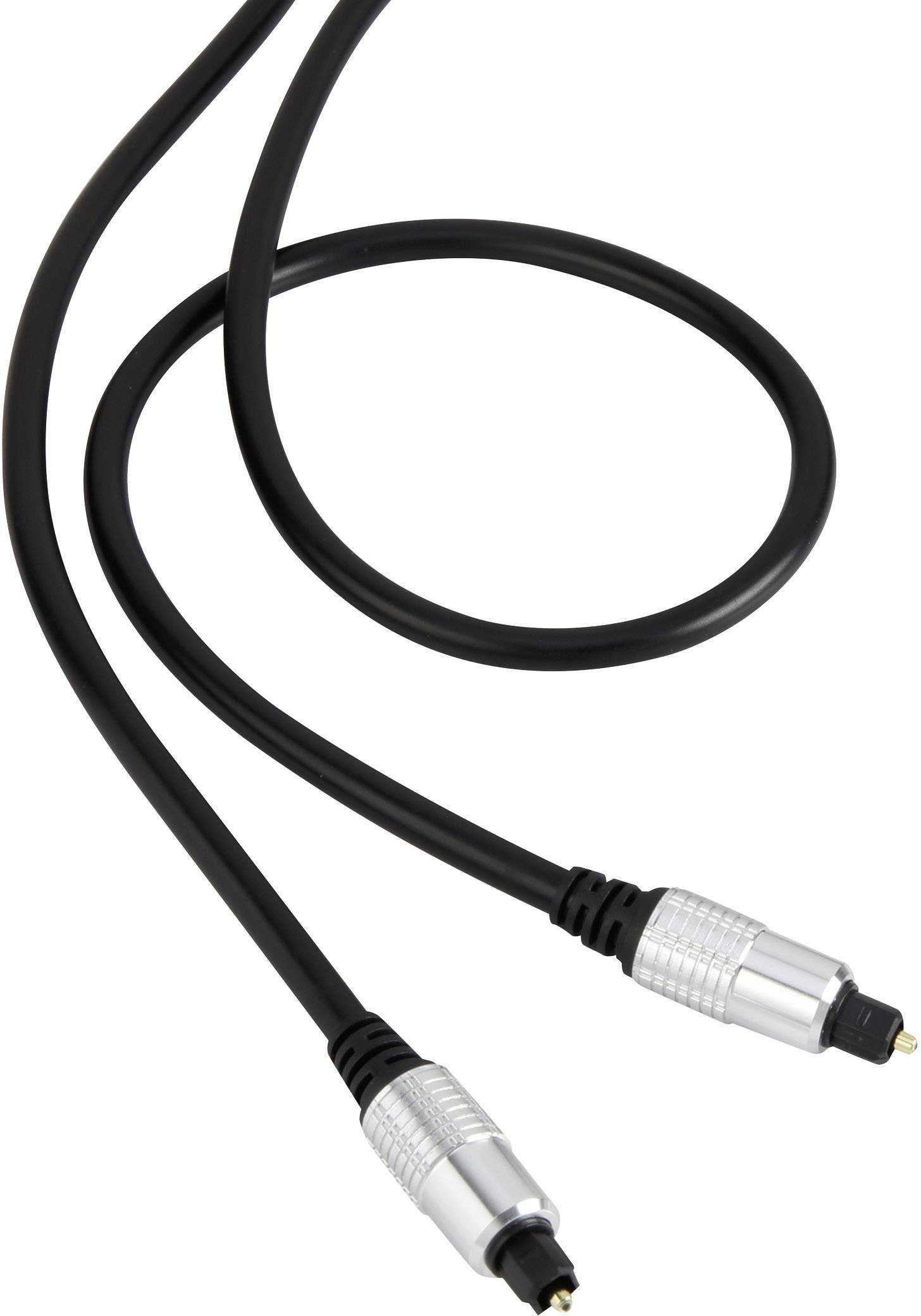 Digitálny audio kábel Toslink SpeaKa, 1 m, čierna