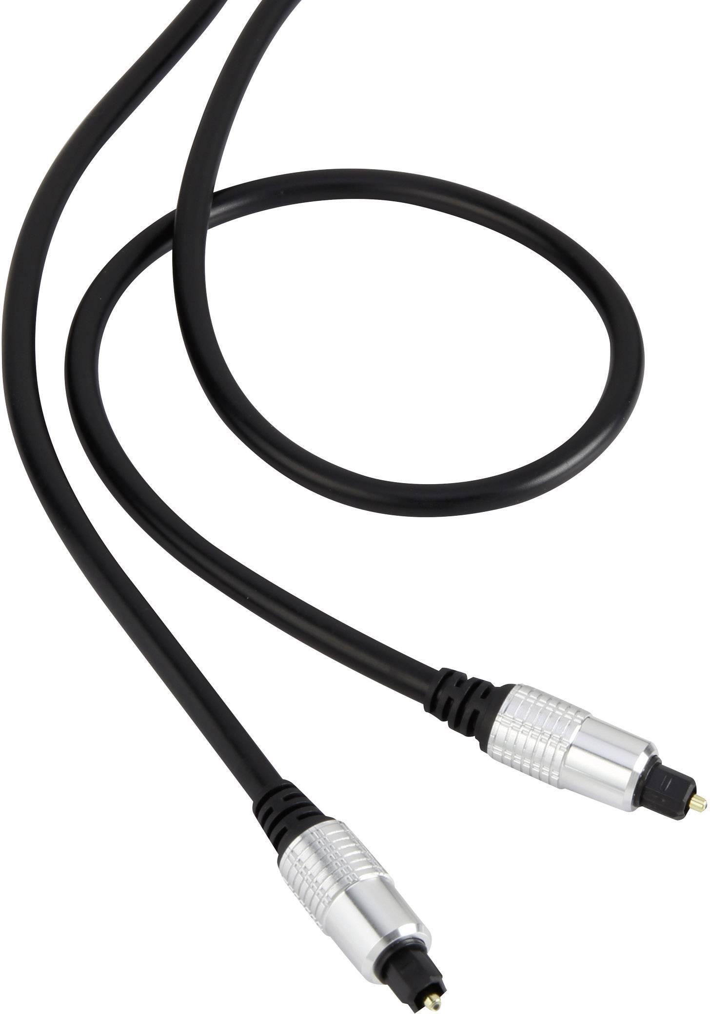 Digitálny audio kábel Toslink SpeaKa, 5 m, čierna