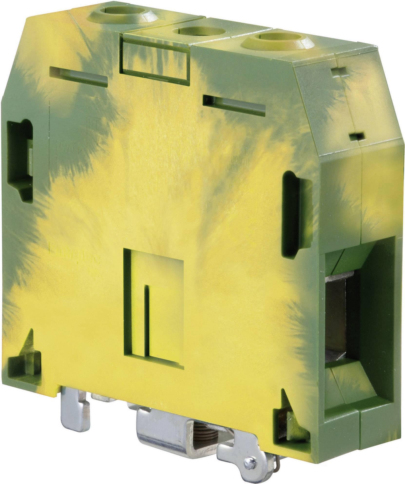 Svorka ochranného vodiče ABB 1SNK 522 150 R0000, 22 mm, šroubovací, osazení Terre, zelenožlutá, 1 ks