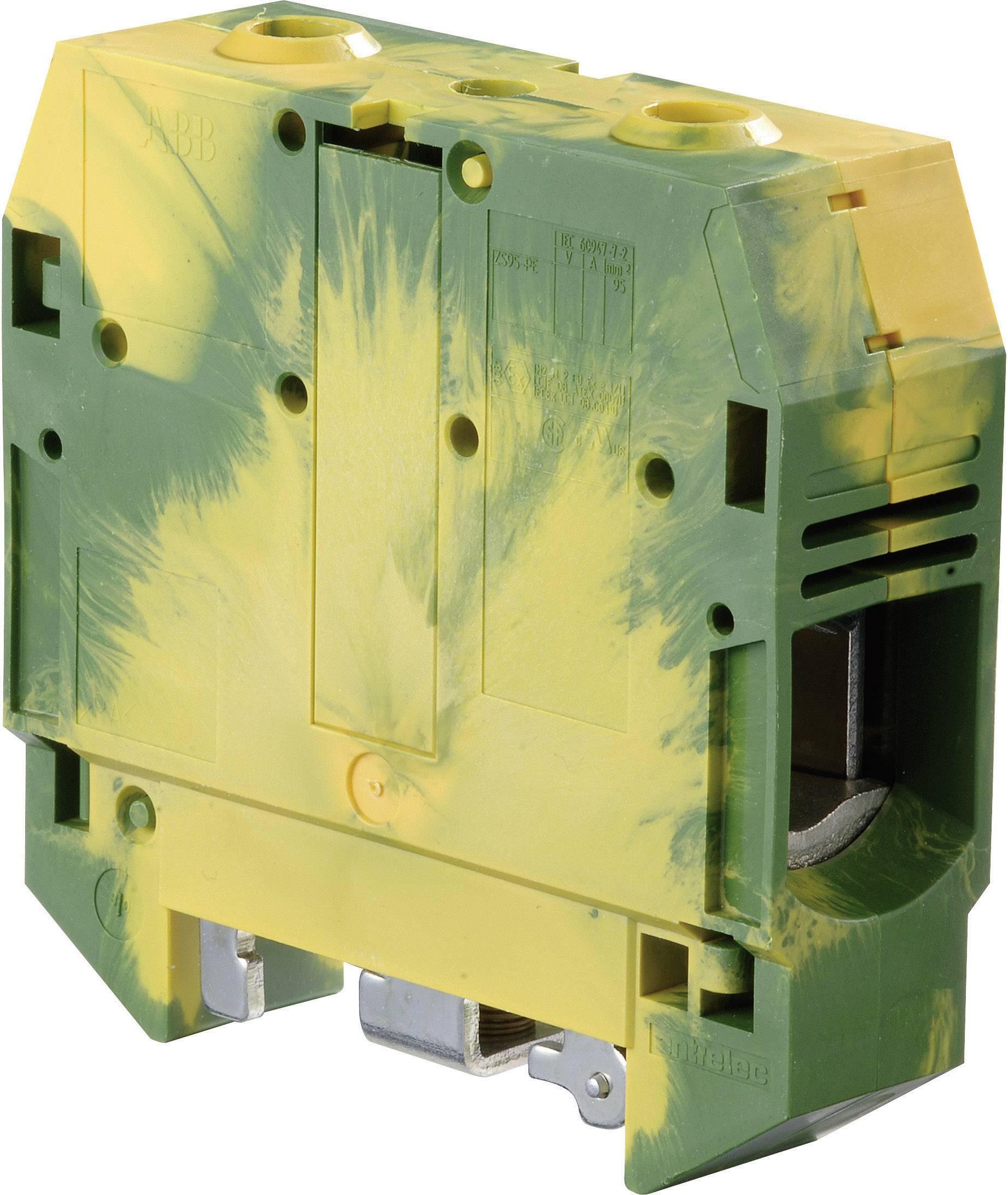 Svorka ochranného vodiče ABB 1SNK 526 150 R0000, 26 mm, šroubovací, osazení Terre, zelenožlutá, 1 ks
