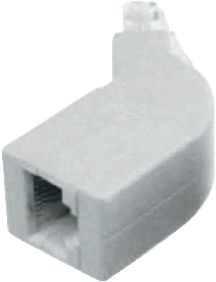 RJ45 adaptér, zahnutý prírodná, 1 ks