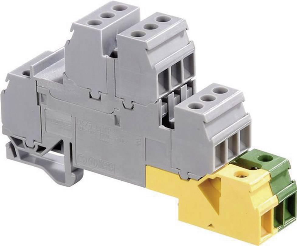 Instalační svorka ABB 1SNA 110 328 R0200, 17.8 mm, šroubovací, osazení Terre, L, šedá, zelenožlutá, 1 ks