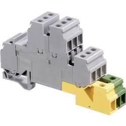 Poschodová inštalačné svorka ABB 1SNA 110 332 R2600, 17.8 mm, skrutkovací, osadenie PE, L, sivá, zelená, žltá, 1 ks