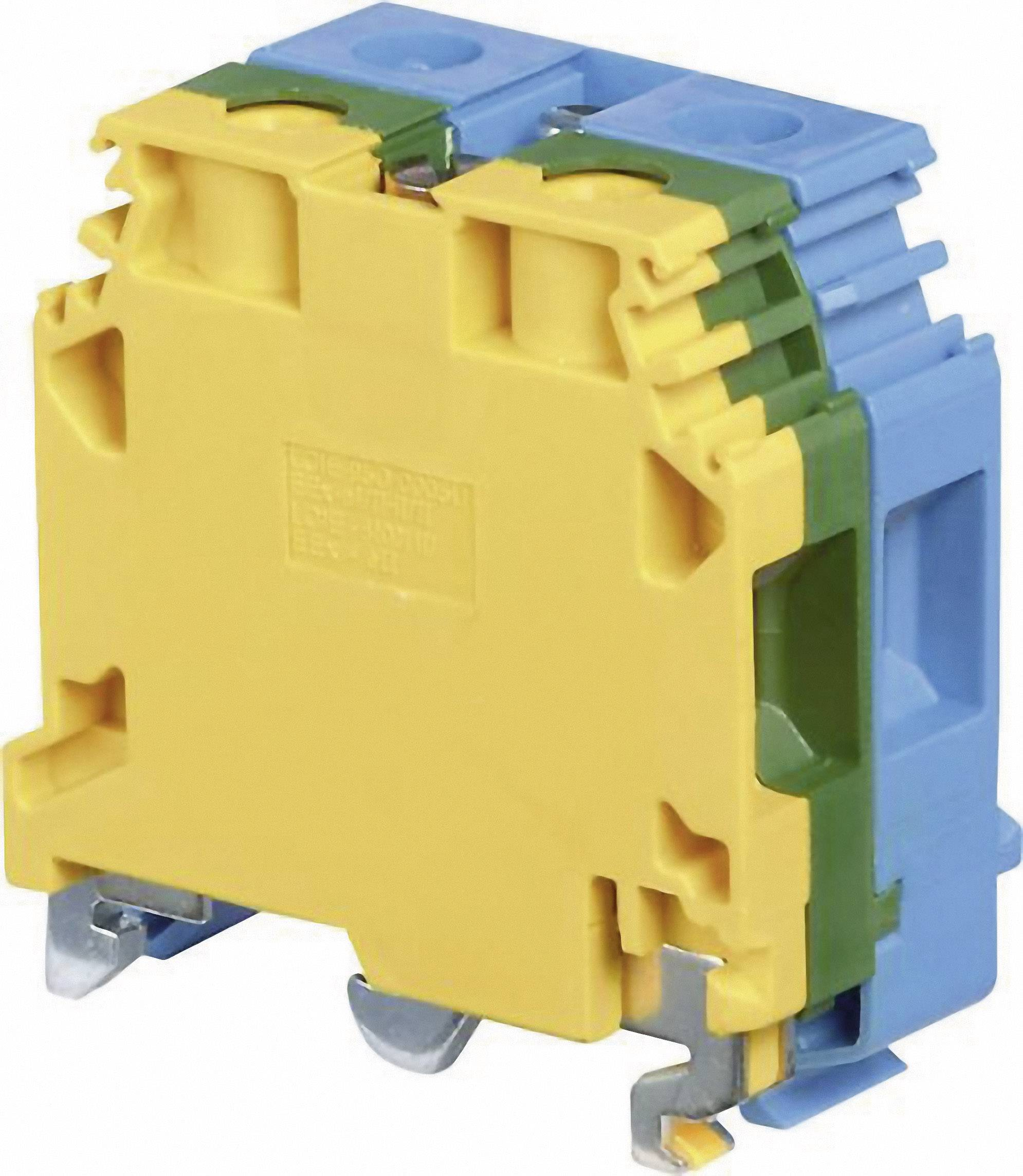 Blok hlavných svoriek ABB 1SNA 165 575 R2500, 32 mm, skrutkovací, osadenie Terre, N, zelenožltá, modrá, 1 ks