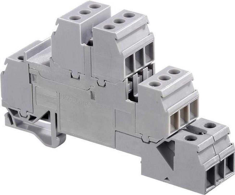 Inštalačná svorka ABB 1SNA 110 331 R2500, 17.8 mm, skrutkovací, osadenie L, sivá, 1 ks