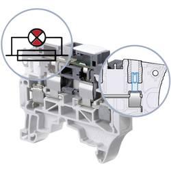 Jistící svorka ABB 1SNK 508 413 R0000, 8 mm, šroubovací, osazení L, šedá, 1 ks
