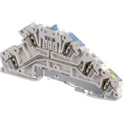 Patrová instalační svorka ABB 1SNA 290 324 R0300, 5 mm, pružinová svorka, osazení Terre, N, L, šedá, modrá, zelenožlutá, 1 ks