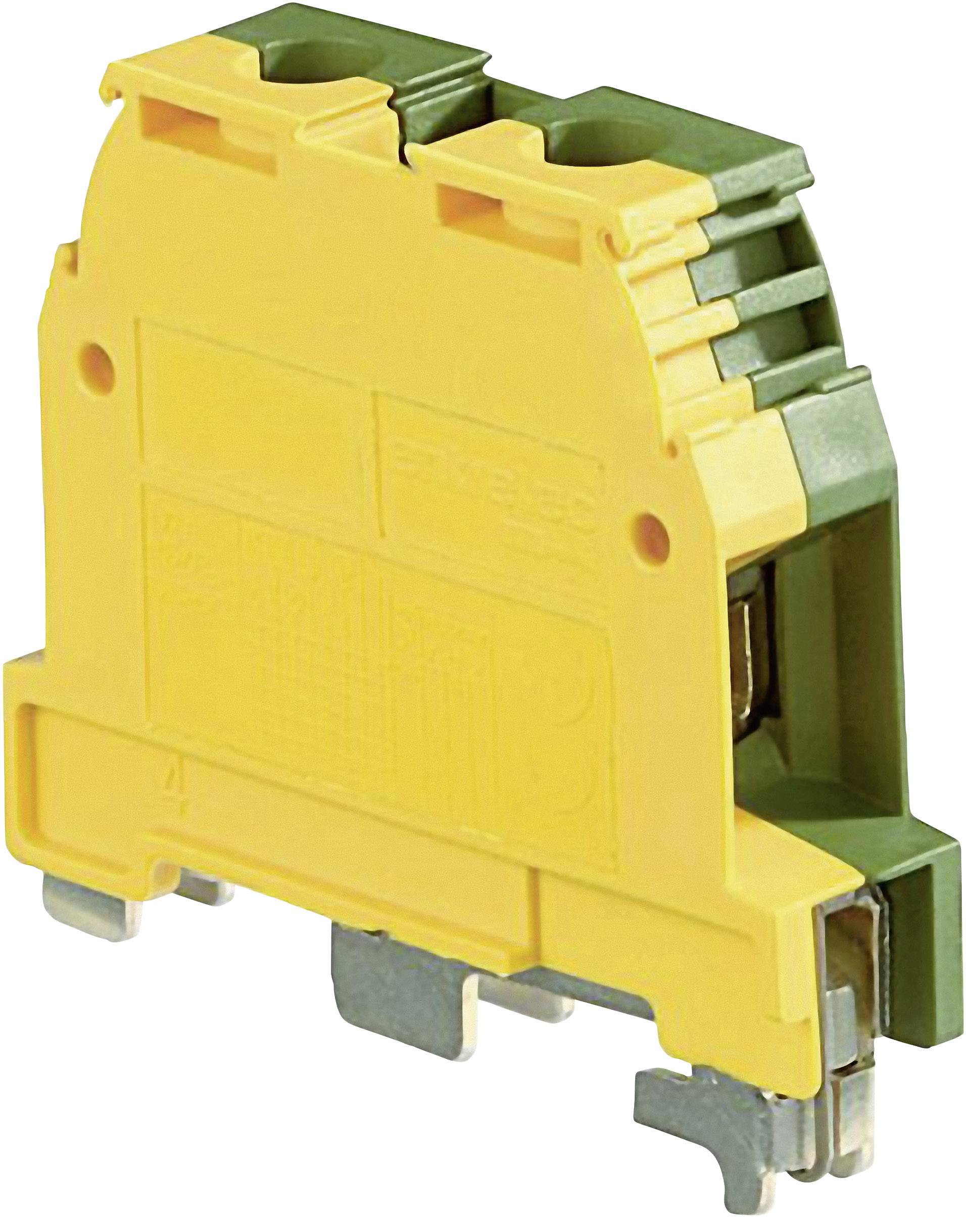 Svorka ochranného vodiče ABB 1SNA 165 130 R2300, 12 mm, šroubovací, osazení Terre, zelenožlutá, 1 ks