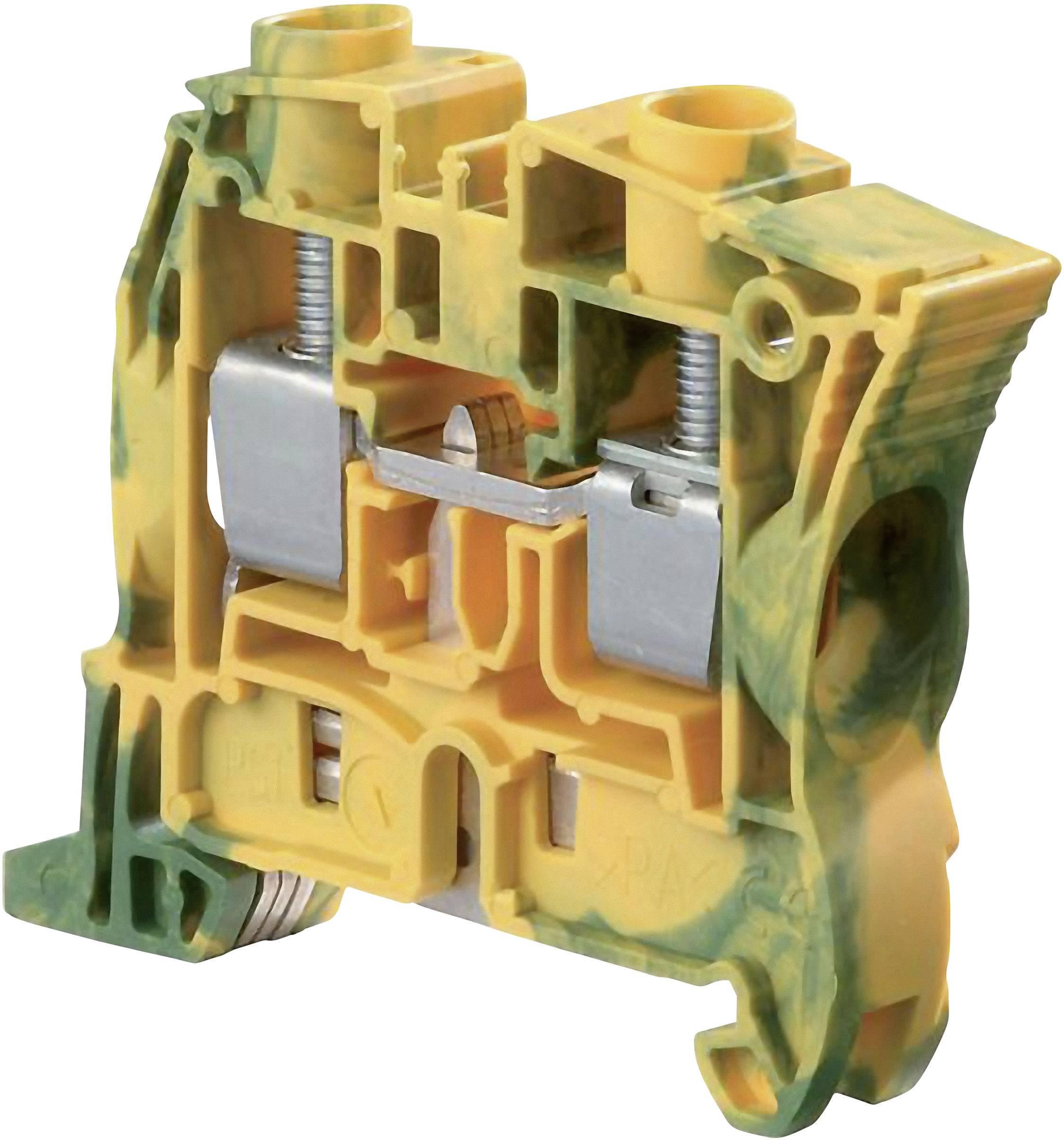 Svorka ochranného vodiče ABB 1SNK 510 150 R0000, 10 mm, šroubovací, osazení Terre, zelenožlutá, 1 ks