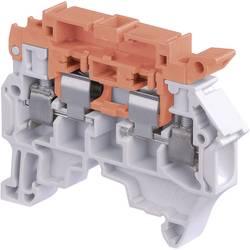 Oddeľovací svorka ABB 1SNK 508 416 R0000, 8 mm, skrutkovací, sivá, oranžová, 1 ks