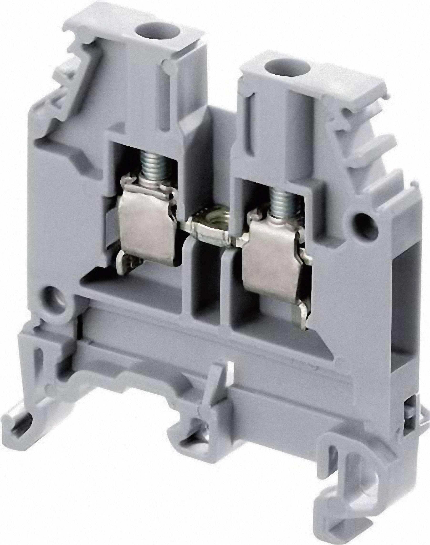 Průchodková svorka ABB 1SNA 125 116 R0100, 6 mm, šroubovací, osazení N, modrá, 1 ks