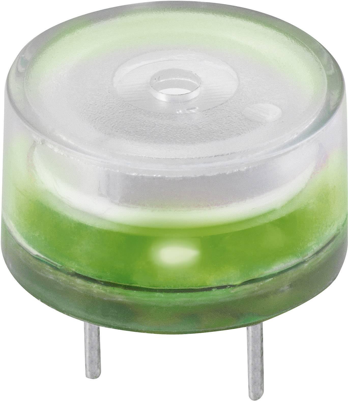 Piezo siréna 83 dB, 12 V/DC, zelená