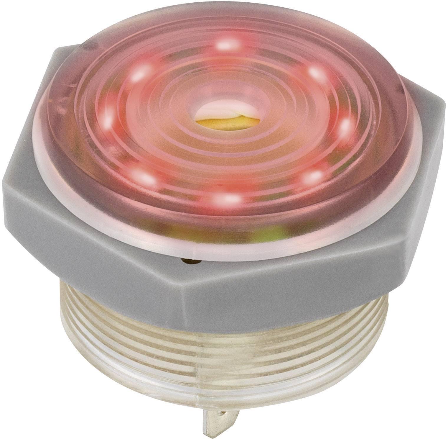 Piezo siréna 95 dB 12 VDC, červená